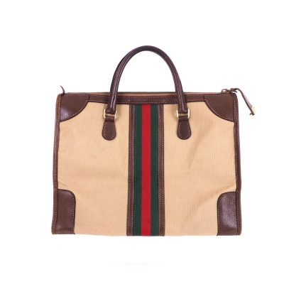 Vintage Gucci Large Unisex Canvas Box Speedy Hand Bag