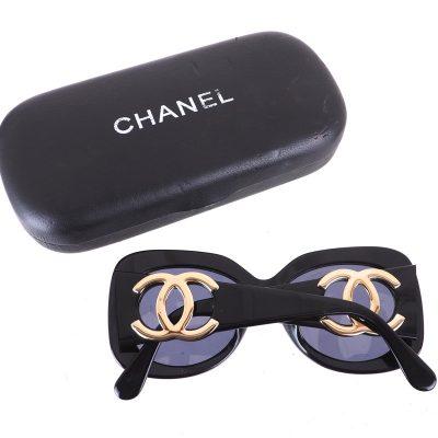 Vintage Chanel Extra Chunky XL Gold Logo Sunglasses