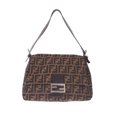 Vintage Fendi New In Dust Bag Zucca Mamma Baguette Hand Bag