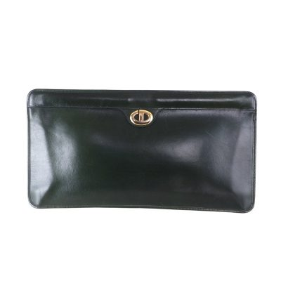 Vintage Christian Dior Extra Large Hunter Green Super Rare Clutch Bag 88532d88f88e4