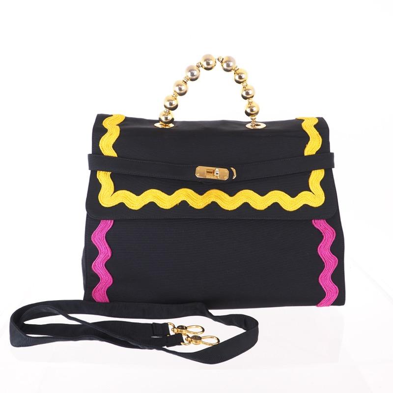 73f8a05b16b Vintage Moschino Multi Colored Ribbon Rare Redwall Hand Bag ...