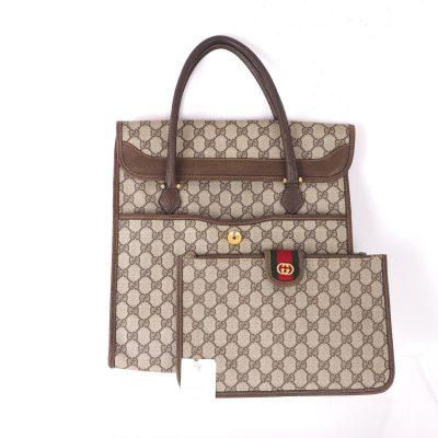 Vintage Gucci Detachable Pouch Monogram Rare Hand Bag