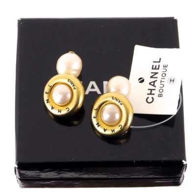 Vintage Chanel NWT Faux Pearl Cuff Links