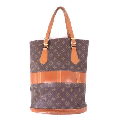 Vintage Louis Vuitton LV Monogram French Co. GM T42236 Bucket Hand Bag