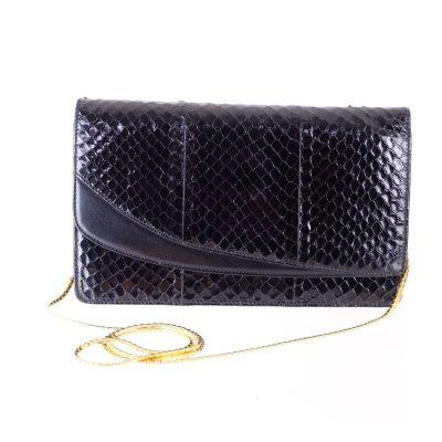 Vintage Gucci New Python Excellent Clutch Shoulder Bag