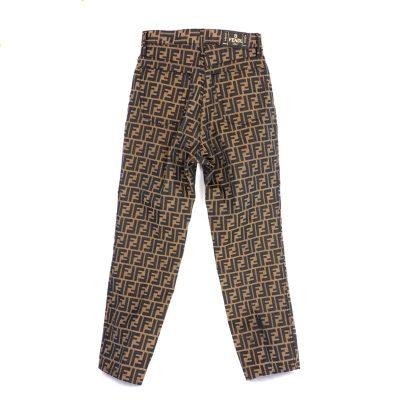Vintage Fendi 41 US12 Monogram Jeans Zucca Pants