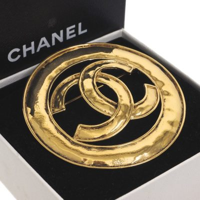 Vintage Chanel 94P Large CC Logo Never Used Pin Brooch