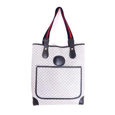 Vintage Gucci Africa Mignon Excellent Blue Red Tote Shoulder Bag