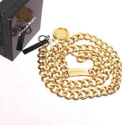 Vintage Chanel Extra Chunky Excellent Necklace Gold  Belt