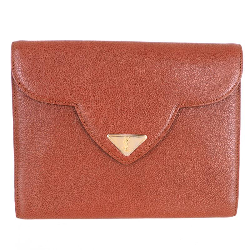 b1b5fd82347 Vintage Yves Saint Laurent Decorative Flap Triangle YSL Clutch Bag - Nina  Furfur Vintage Boutique