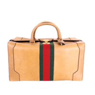 Vintage Gucci Box Calf Leather XXL Jumbo Box Speedy Hand Bag