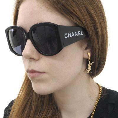 Vintage Yves Saint Laurent YSL Gold Earrings