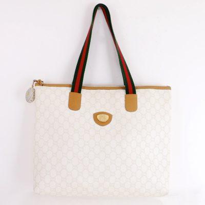Vintage Gucci Gucci Plus White Tote Hand Bag