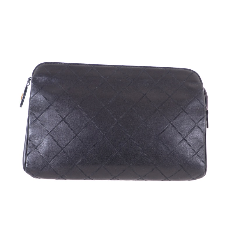 d096e0e90d02 Vintage Chanel Full Set Excellent Quilted Leather Clutch Bag - Nina ...