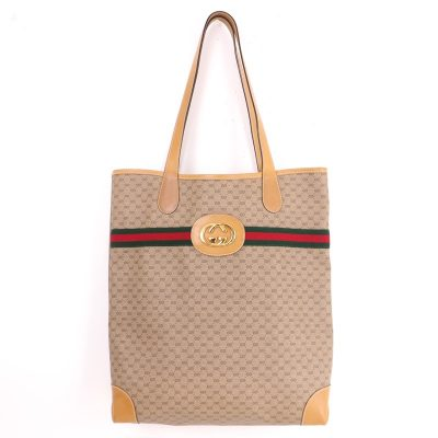 Vintage Gucci African Mignon Monogram Excellent Tote Hand Bag