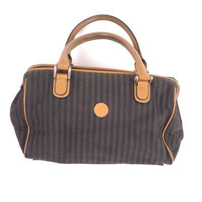 Vintage Fendi Stripe Speedy  Hand Bag