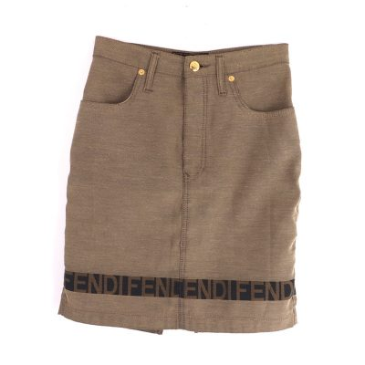 Vintage Fendi F E N D I Jean Excellent Skirt