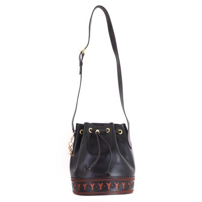 Vintage Yves Saint Laurent Never Used YSL Drawstring Bucket Shoulder Bag