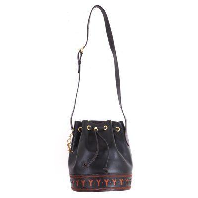 Vintage Yves Saint Laurent Never Used YSL Drawstring Bucket Shoulder Bag