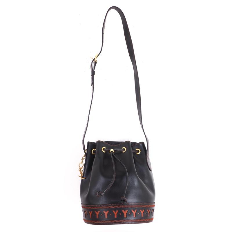 c7109778de1 Vintage Yves Saint Laurent Never Used YSL Drawstring Bucket Shoulder Bag