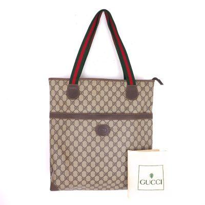 Vintage Gucci Monogram Beige Excellent Condition Shoulder Bag
