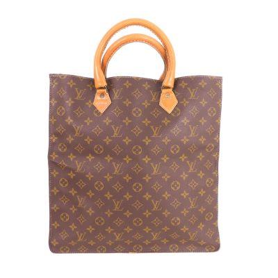 Vintage Louis Vuitton T51140 Sac Tote Plat Monogram USA Hand Bag