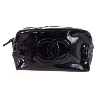 64203084a716 Vintage Chanel Toilet Pouch Cosmetic Clutch Bag