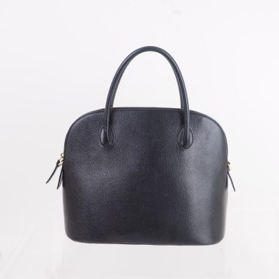 Vintage Celine Black Leather Simple Hand Bag