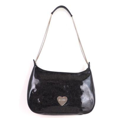 Vintage Moschino Heart Logo Wire Strap Shoulder Bag