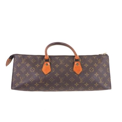 Vintage Louis Vuitton Monogram Sac Tricot Triangle 1980's Hand Bag