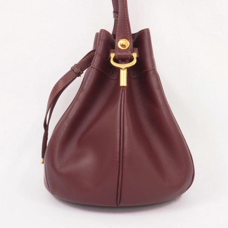 vintage cartier balloon burgundy bag