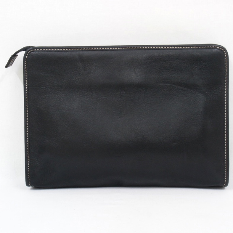 Vintage Celine Black Leather Signature Square Clutch Bag Purse | eBay