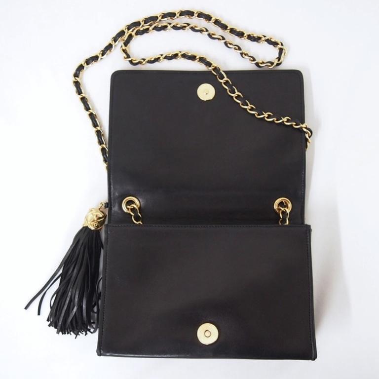Vintage Chanel Tassel Diamond Quilted Chain Shoulder