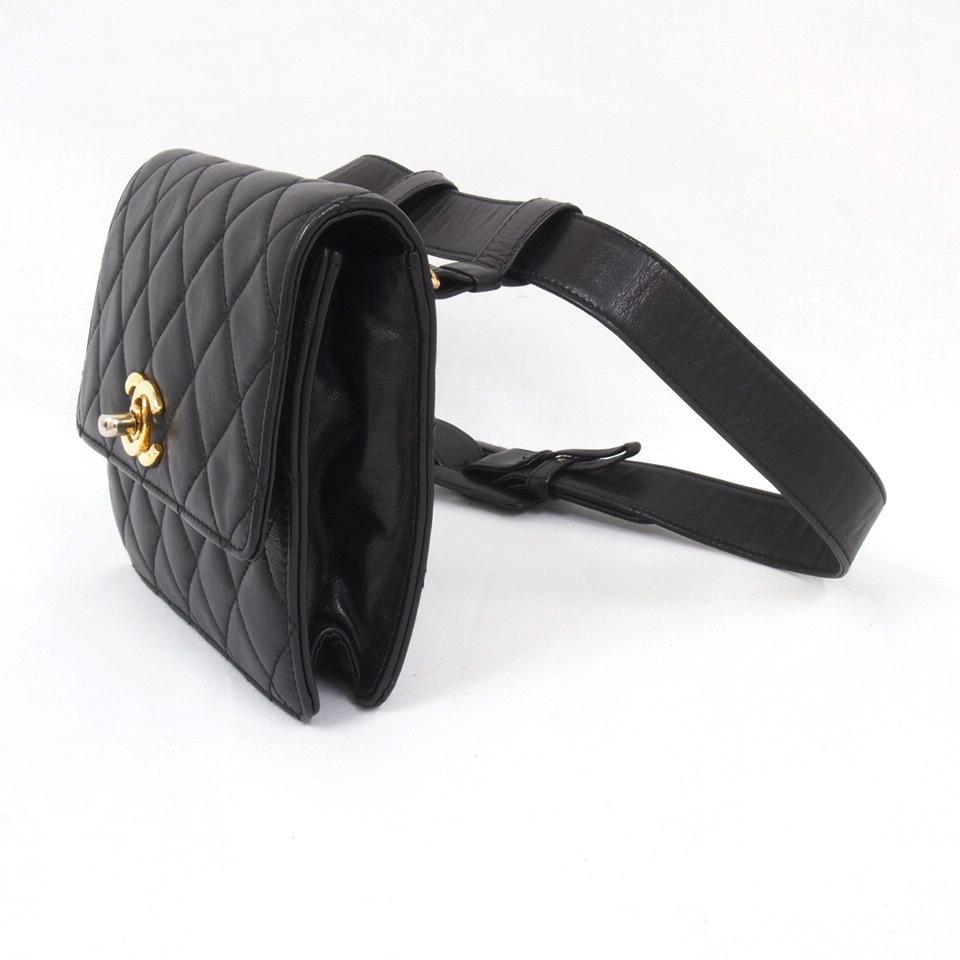 Vintage Chanel Large Envelope Clutch Belt Waist Bag