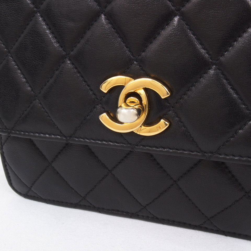 Vintage Chanel Large Envelope Clutch Belt Waist Bag