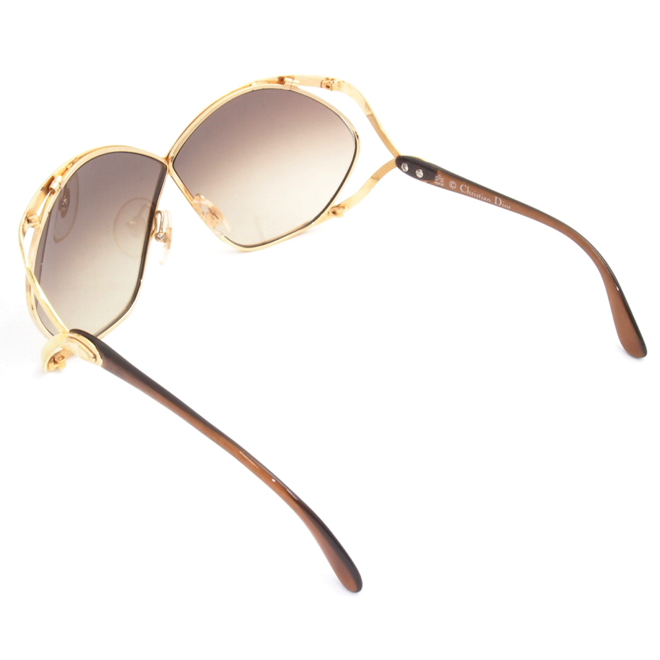 Vintage Christian Dior Oversized Butterfly Sunglasses Gold ...