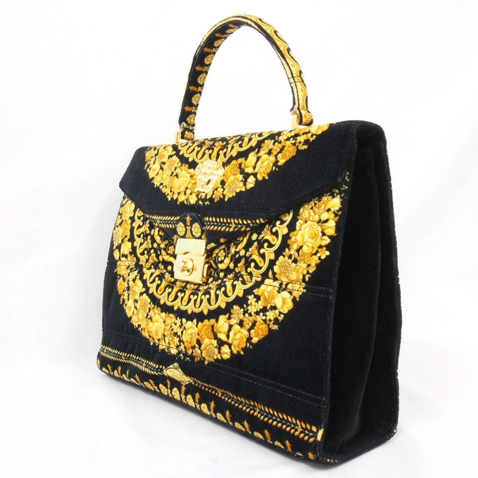 Vintage Gianni Versace Atelier Handbag Medusa Flap ...