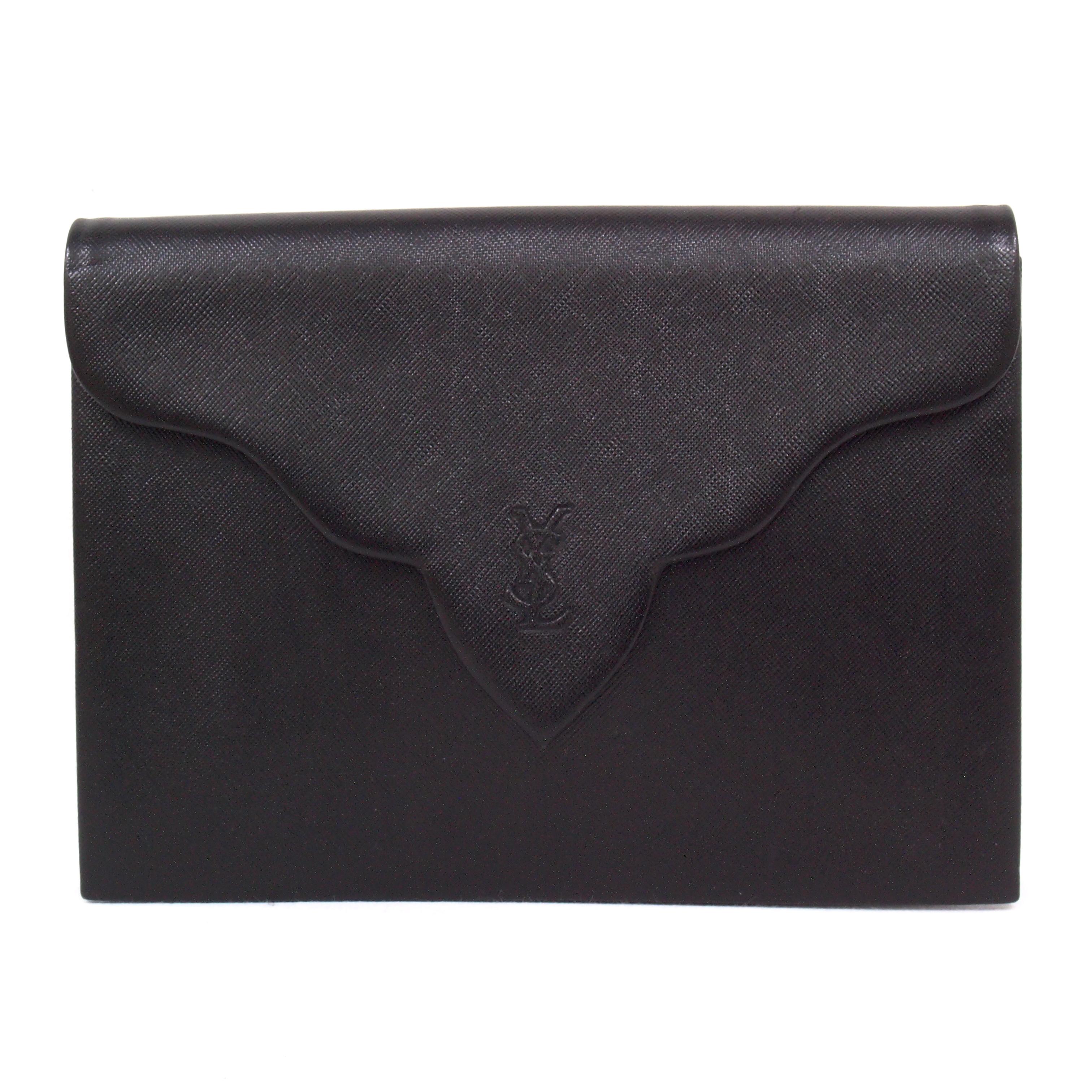 Vintage Mint Yves Saint Laurent YSL Envelope Clutch Bag Decorative ...
