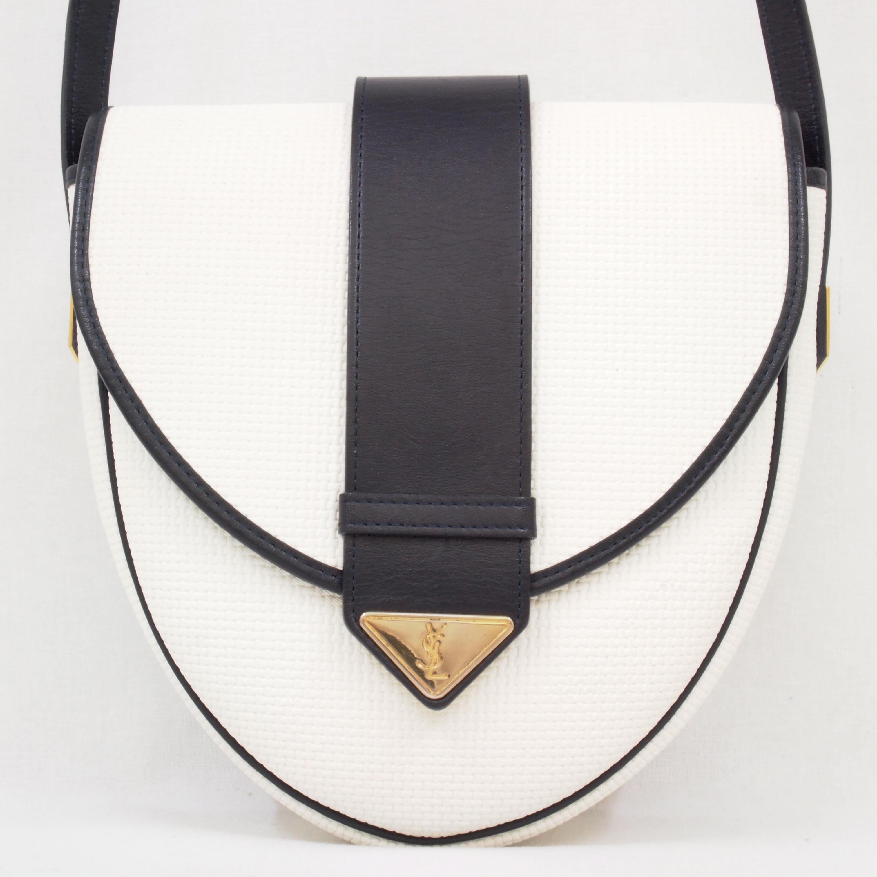 Vintage Yves Saint Laurent Woven Y Flap YSL Shoulder Bag Excellent ...