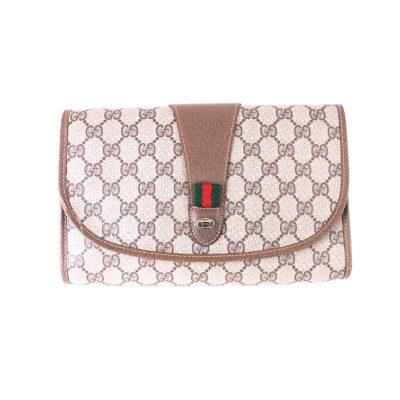 e4658c9845dd Vintage Gucci Mint Accessory Collection Monogram Clutch Bag