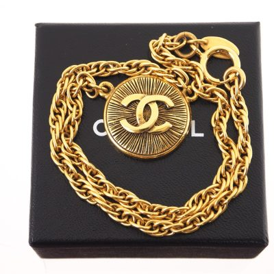 ab92f20c1c76 Vintage Chanel Never Used Gold Choker Twisted Chain Necklace